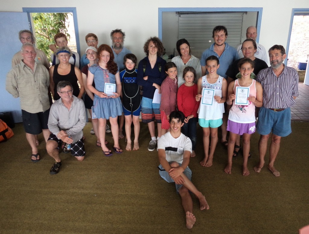 Some of the participants and volunteers at the 2015 WLBC Sailing School