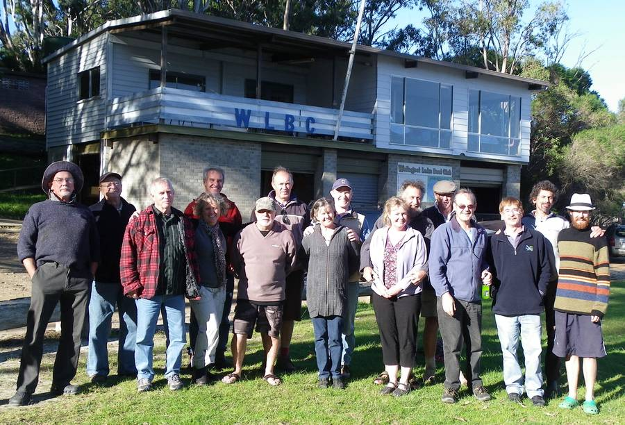 From left: Ian Wood, Peter Debney, Neil Fisher, Wendy Miller, Mike Stove, Glyn Miller, Matt Sochacki, Sian Morton, Rob Morton, Andrea Beck, Alan Holbrook, Morrie Lynch, Max Dogger, Brian Wright, Tony Hastings and Gregory Parsons
