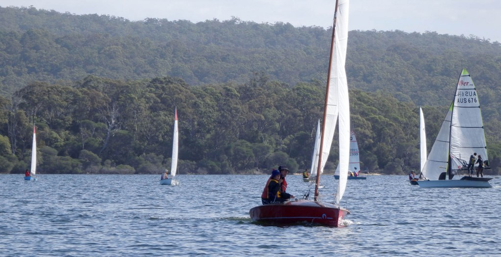 Ian Wood skippered his NS14 to a significant lead in Race 18.