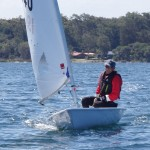Goete on his Laser Radial