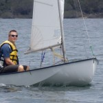 "Lance sails the club's Sabre ""Splice"""