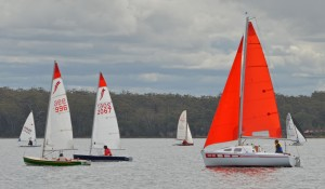 the monohull fleet racing around the course