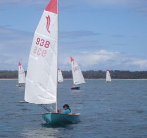 Sian leads the fleet during a Saturday race