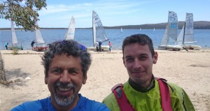 Tony & Jasper prepare to race (the only photo taken that day)